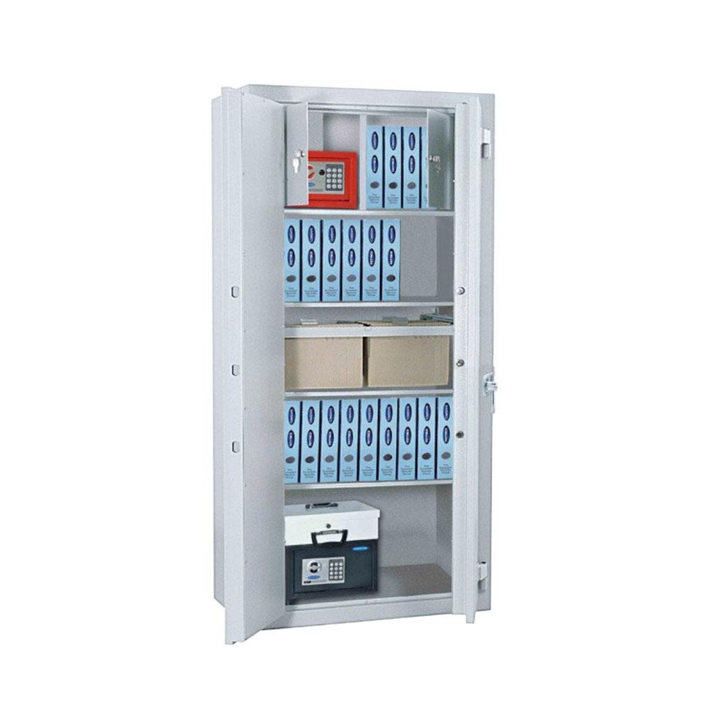 Seif tip dulap antiefractie Rottner Office 3 Premium T05033, ignifug, inchidere cu bolturi in 3 directii, cheie