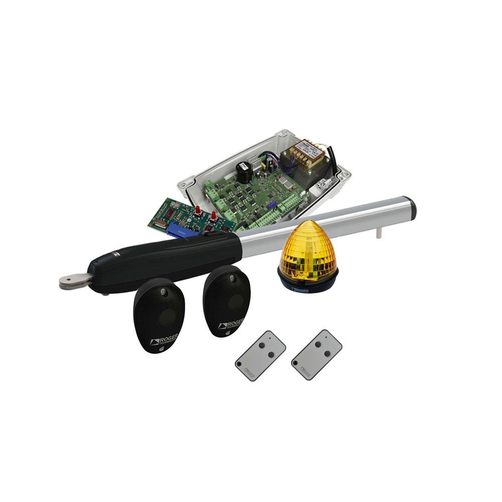 Semikit automatizare poarta batanta Roger Technology SEMIKIT SMARTY 7, 7 m, 500 Kg, 230V AC imagine spy-shop.ro 2021