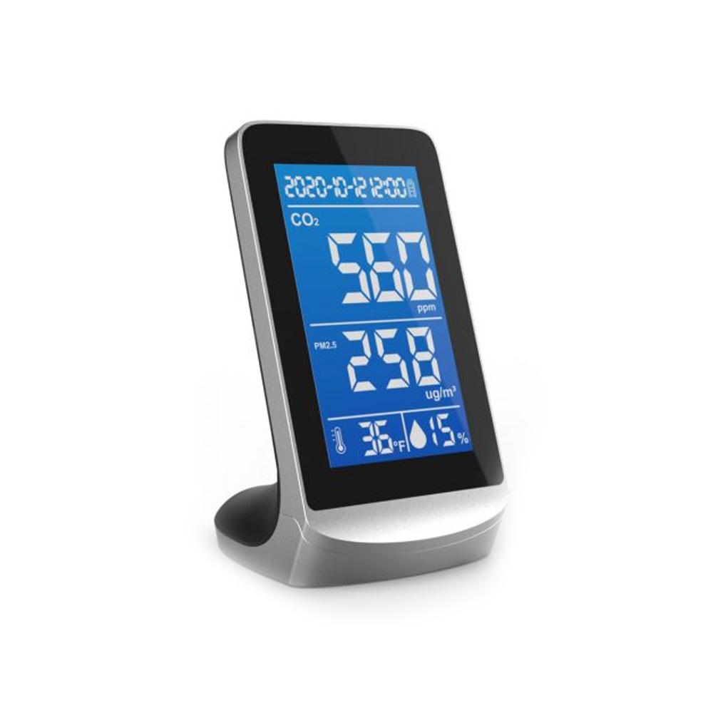 Senzor pentru detectarea calitatii aerului ZKTeco AQD-V43B, CO2, PM2.5/1.0/10, temperatura, umiditate, plug and play