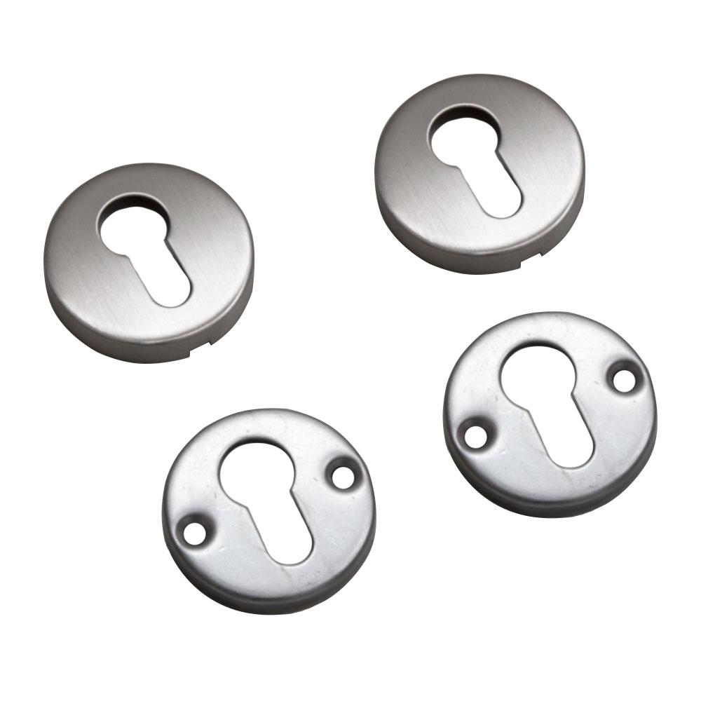 Set bochete rotunde pentru mascare cilindru cu profil EURO YH-CR, inox imagine spy-shop.ro 2021