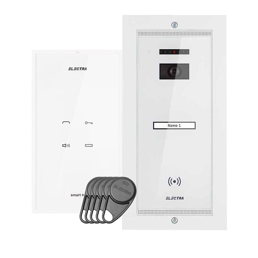 Set interfon Electra Touch Line Smart+ AKM.P1FR.T0S4.ELW, 1 familie, RFID, 5 tag-uri imagine spy-shop.ro 2021