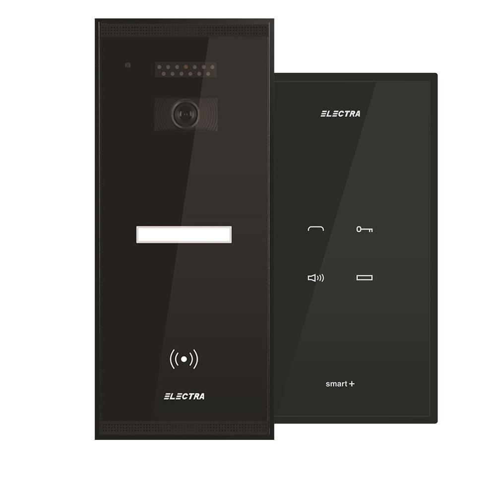 Set interfon Electra Touch Line Smart+ AKM.P1SR.T0S4.ELB, 1 familie, RFID, 5 tag-uri imagine spy-shop.ro 2021