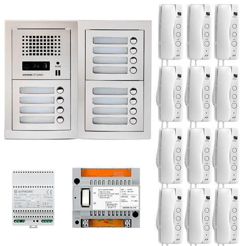 Set interfon de interior Aiphone GTA12E, 12 familii, bloc imagine spy-shop.ro 2021