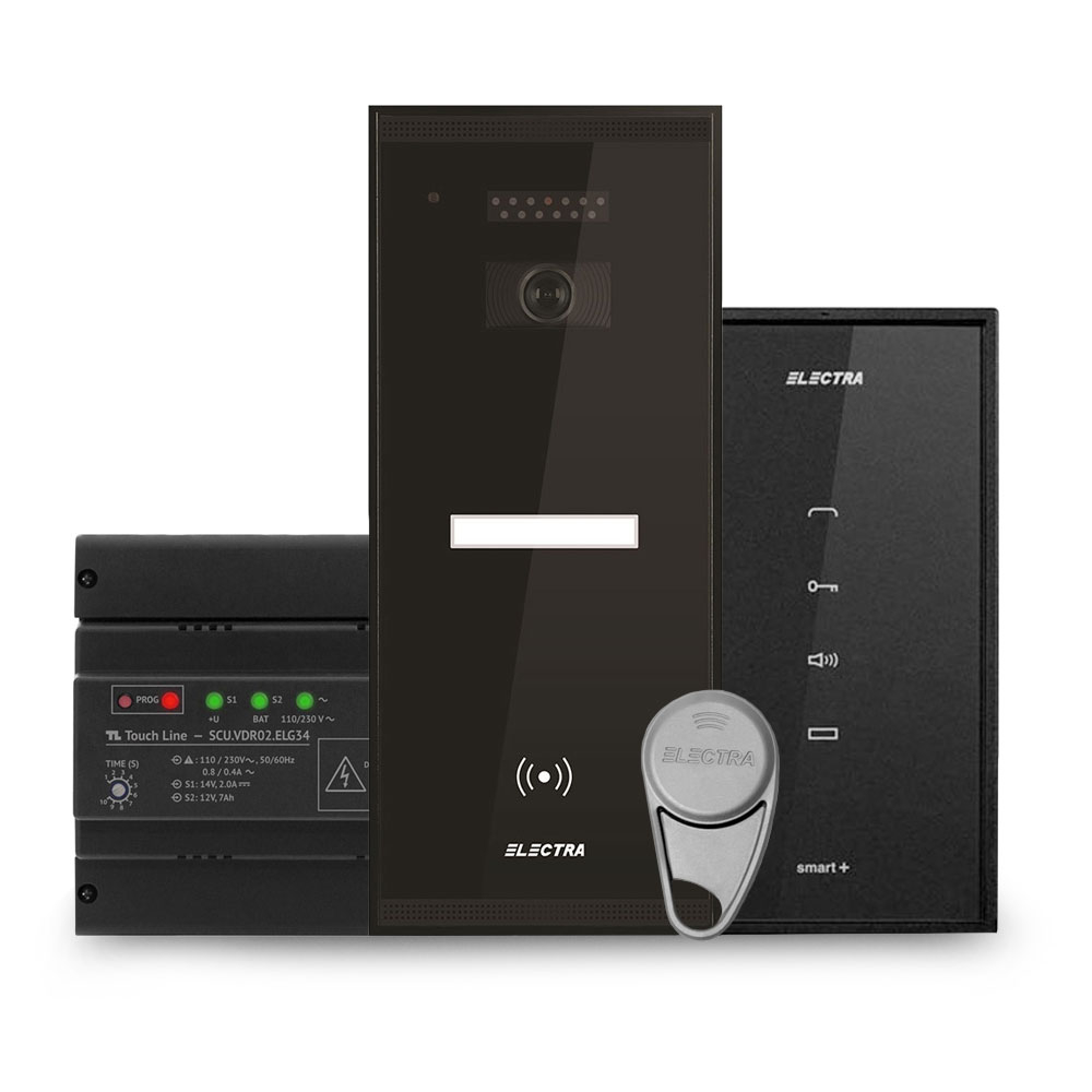 Set interfon Electra Smart INT-ELEC-01, 1 familie, RFID, 2 tag-uri imagine spy-shop.ro 2021