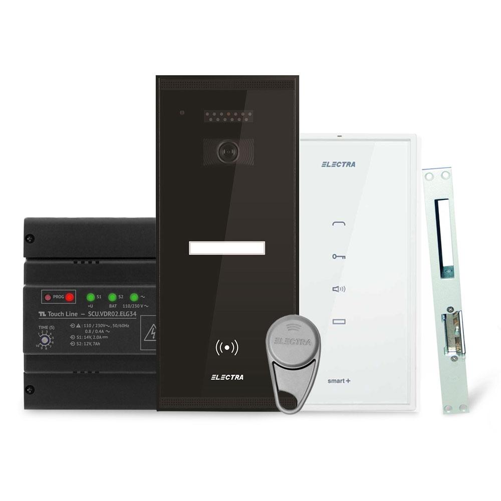Set interfon Electra Smart INT-ELEC-03, 1 familie, RFID, 2 tag-uri imagine spy-shop.ro 2021