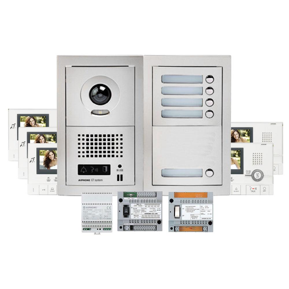 Set videointerfon Aiphone GTV5E, 5 familii, 3.5 inch, aparent imagine spy-shop.ro 2021