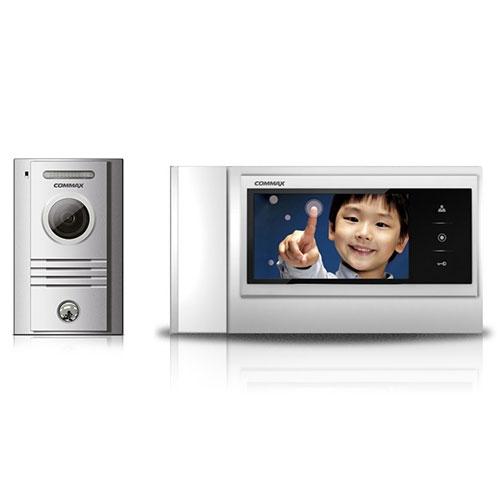 Set videointerfon Commax COLOR FAM, 1 familie, 7 inch, aparent imagine spy-shop.ro 2021