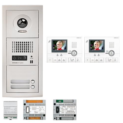 SET VIDEOINTERFON CU 2 POSTURI DE INTERIOR AIPHONE GTV2E