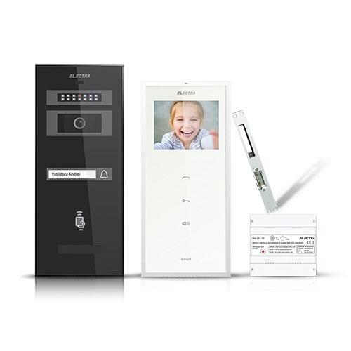 Set videointerfon Electra Smart VID-ELEC-18, 1 familie, aparent, 3.5 inch imagine spy-shop.ro 2021