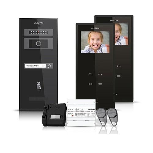 Set videointerfon Electra Smart VID-ELEC-31, 1 familie, aparent, 3.5 inch imagine spy-shop.ro 2021