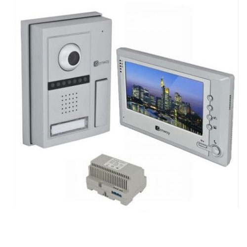 Set videointerfon Genway FS5V11, 7 inch, aparent, vila