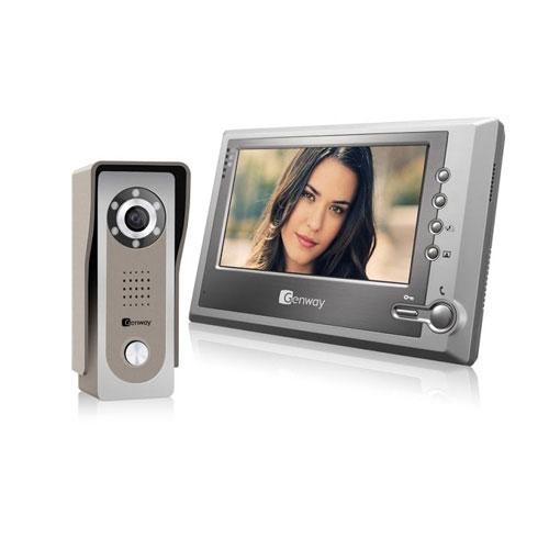 Set videointerfon Genway FS7V11, aparent, 7 inch, 1 familie imagine spy-shop.ro 2021