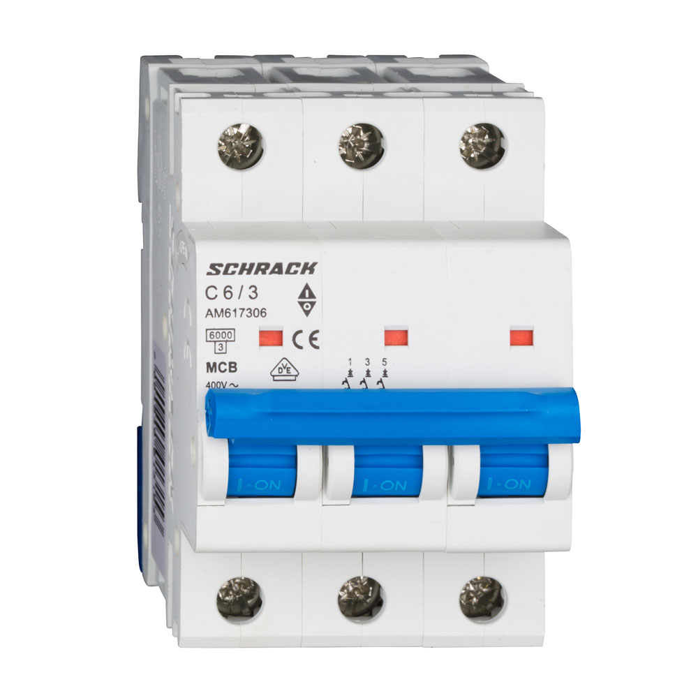 Siguranta modulara automata Schrack AM617306, C6A, 6kA, 3 poli