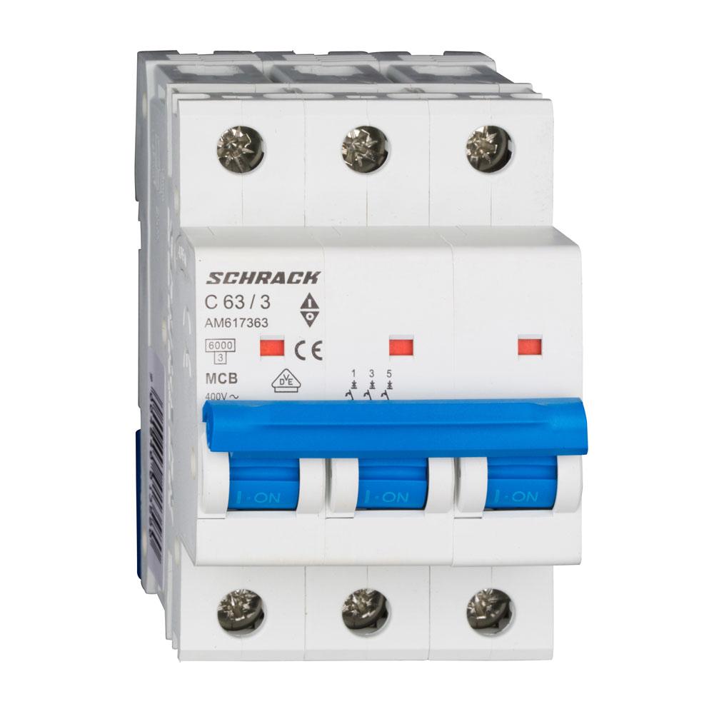 Siguranta modulara automata Schrack AM617363, C63A, 6kA, 3 poli