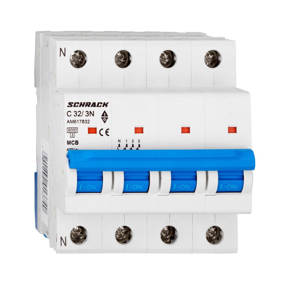 Siguranta modulara automata Schrack AM617832, C32A, 6kA, 3P+N