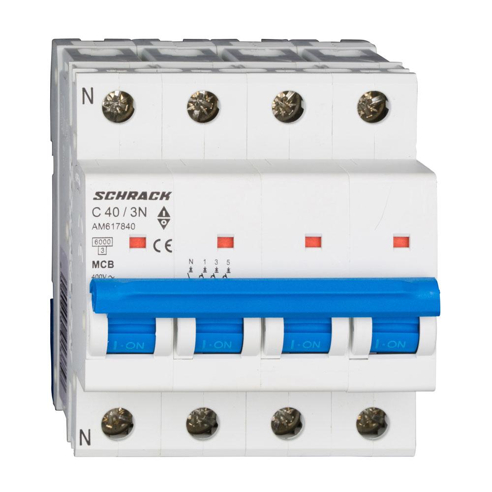 Siguranta modulara automata Schrack AM617840, C40A, 6kA, 3P+N