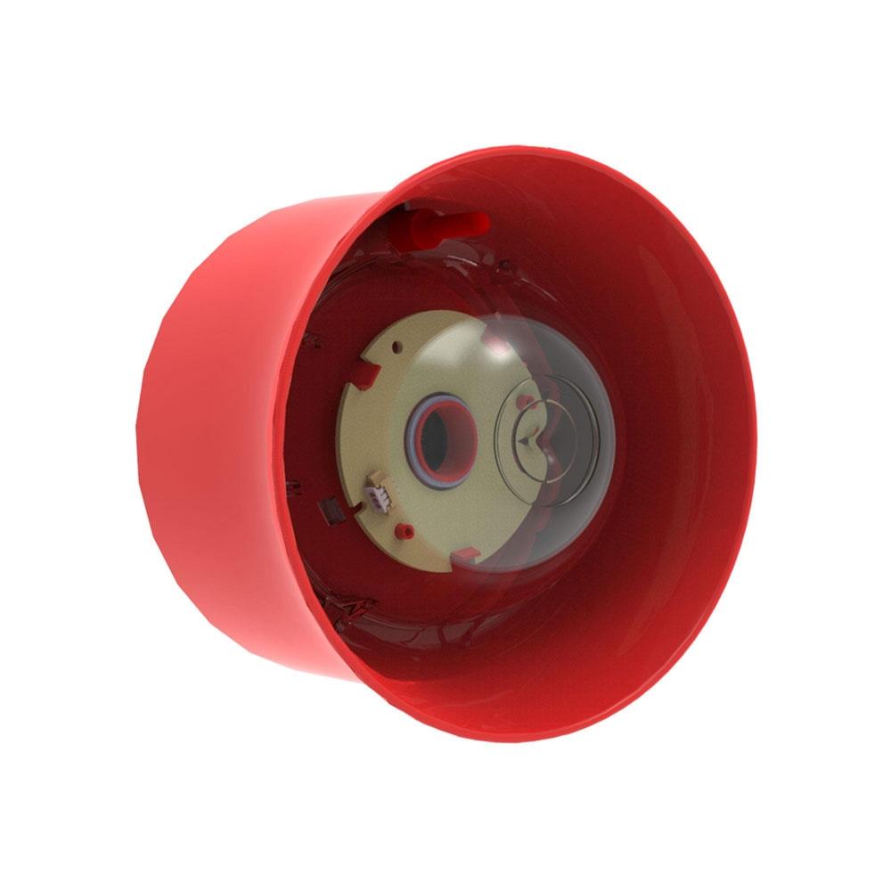 Sirena adresabila cu lampa de incendiu pentru perete Hochiki CHQ-WSB2/RL/SIL, 51 tonuri, LED rosu, SIL2 imagine spy-shop.ro 2021