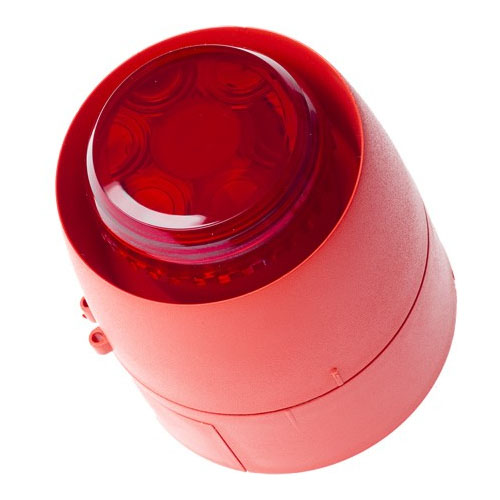 Sirena conventionala rosie cu flash Hochiki CWSB-E, 3 niveluri, 32 tonuri, 113 dB(A)