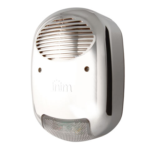 Sirena de exterior wireless cu flash Inim AIR2-HEDERA-FM, 103 dBA, anti-spuma, cromata imagine spy-shop.ro 2021