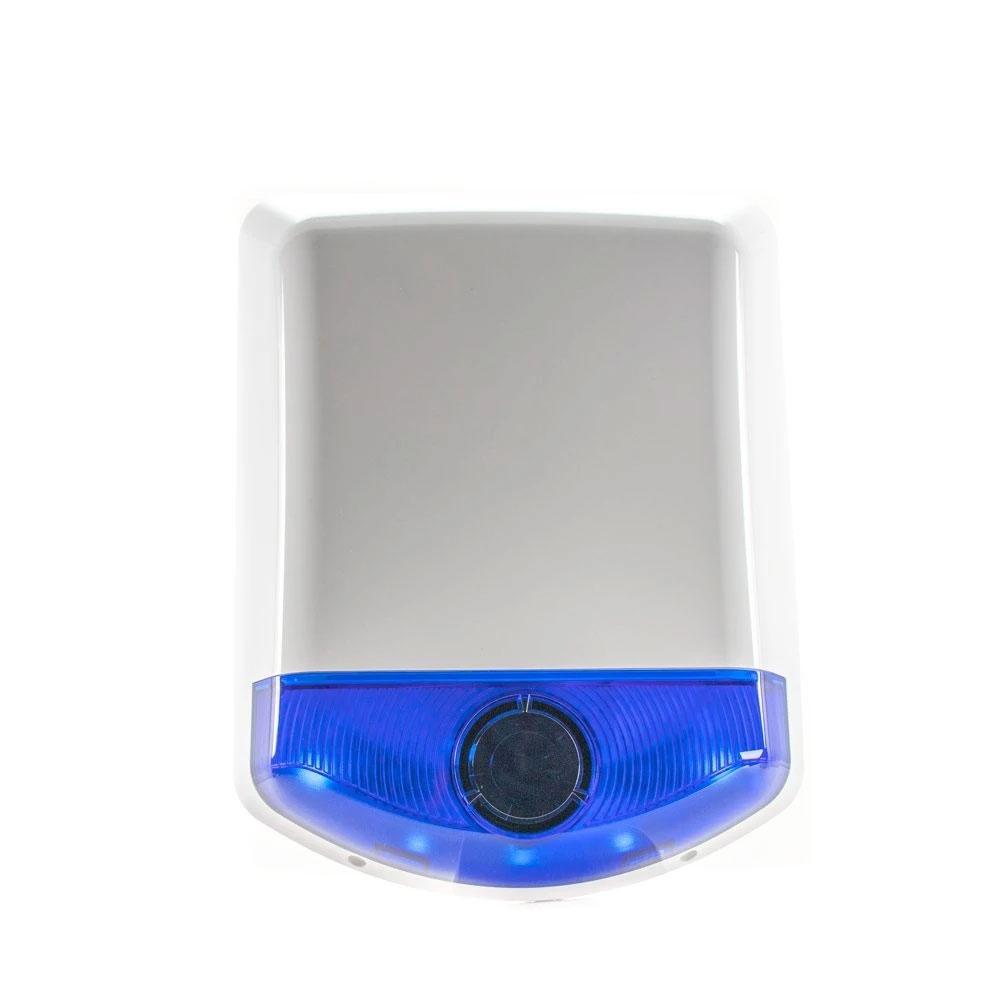 Sirena de exterior stroboscopica wireless DSC WT 4911, 100 dB, RF 300 m, senzor temperatura imagine spy-shop.ro 2021
