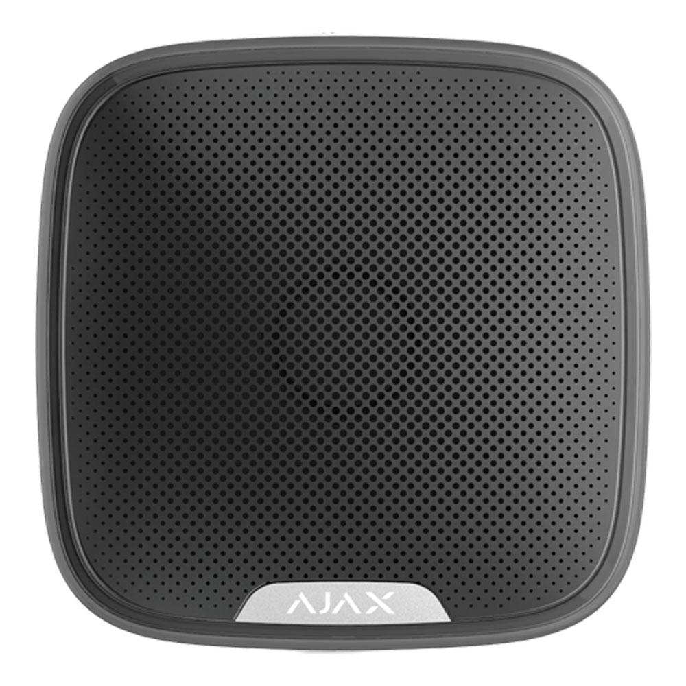 Sirena de exterior wireless cu LED AJAX StreetSiren BL, 113 dB, RF 1500 m, IP54 imagine spy-shop.ro 2021