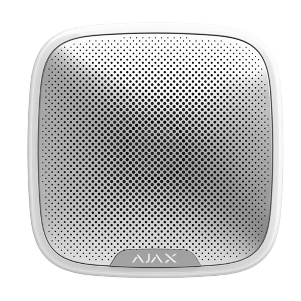 Sirena de exterior wireless cu LED AJAX StreetSiren WH, 113 dB, RF 1500 m, IP54 imagine spy-shop.ro 2021