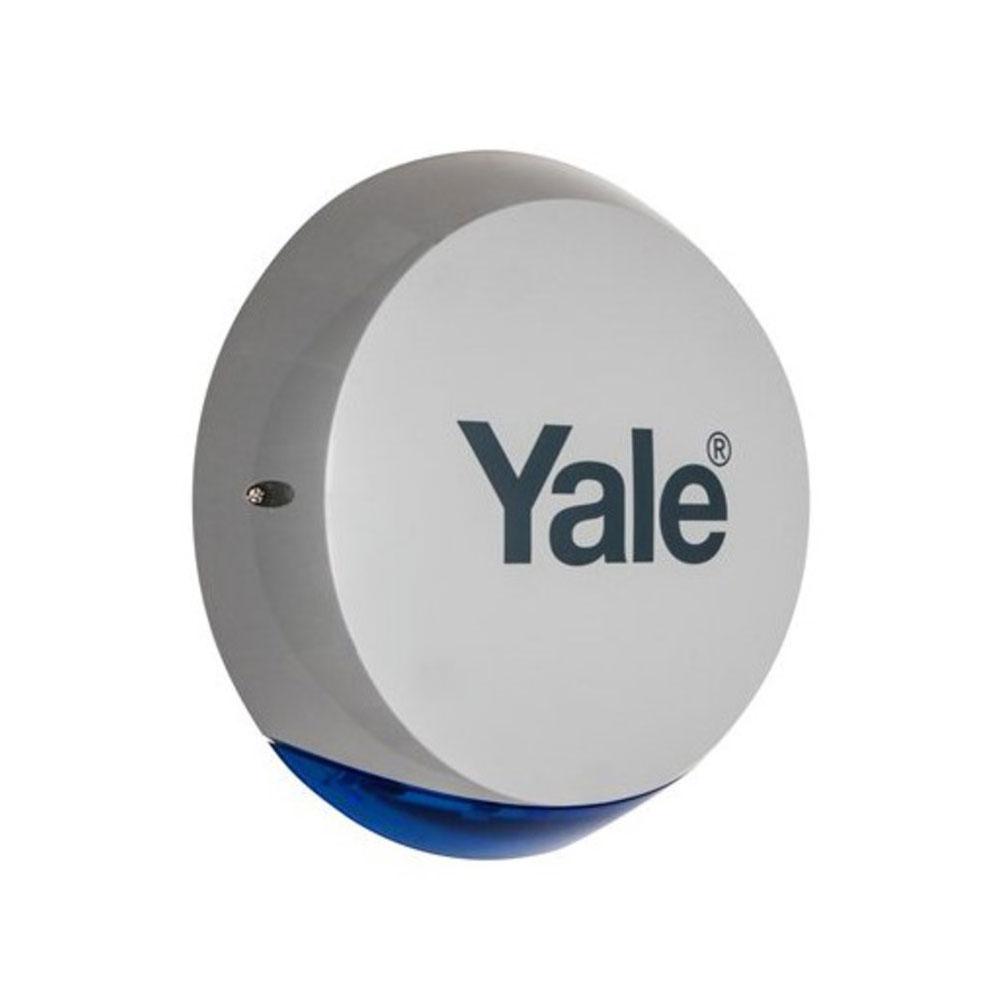 Sirena de exterior wireless cu flash Yale 60-A100-0BXG-SR-5011, 104dB, 868 MHz, 200 m imagine spy-shop.ro 2021