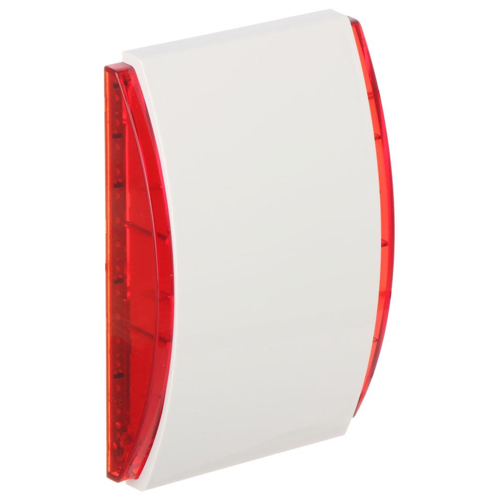 Sirena de interior cu LED Satel SPW-220 R, 120 dB, 3 tonuri, rosu