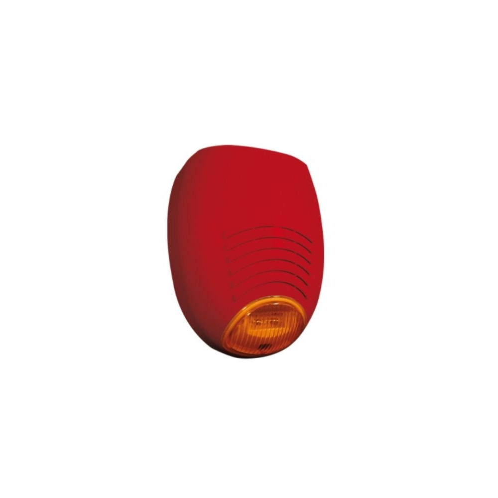 Sirena incendiu de exterior cu flash AMC SR136 FIRE, 103 dB, 13.8 Vdc, cu backup