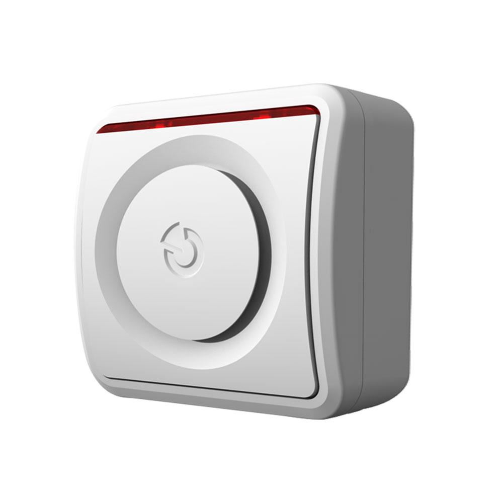 Sirena piezo adresabila wireless de interior Jablotron JA-150A, 85 dB, RF 300 m, buton programabil imagine spy-shop.ro 2021