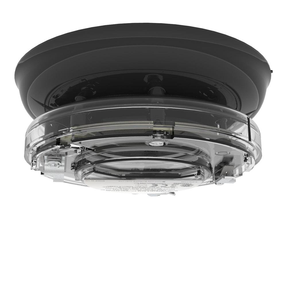 Sirena tip soclu adresabila cu lampa Hochiki YBO-BSB2(BLK)/WL, 51 tonuri, LED alb, carcasa neagra