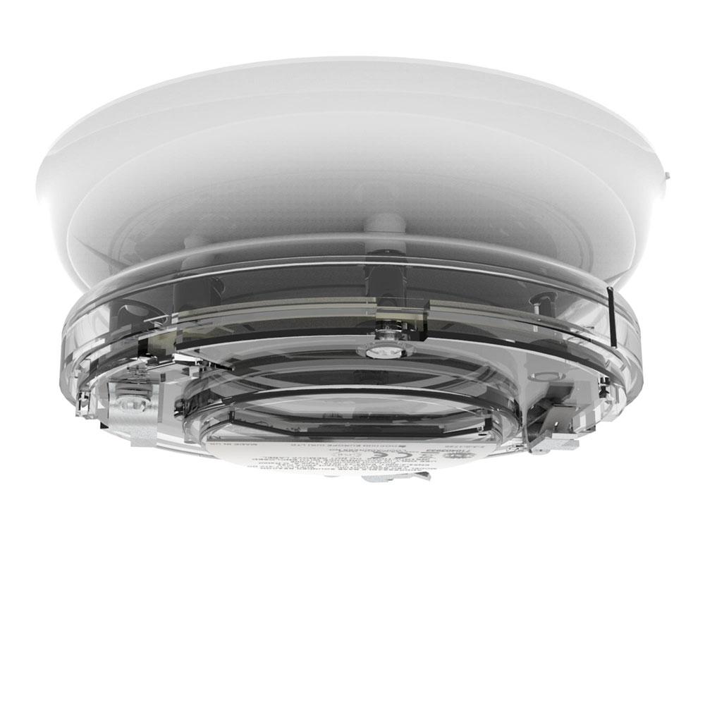 Sirena tip soclu adresabila cu lampa Hochiki YBO-BSB2(WHT)/WL, 51 tonuri, LED alb, carcasa alba