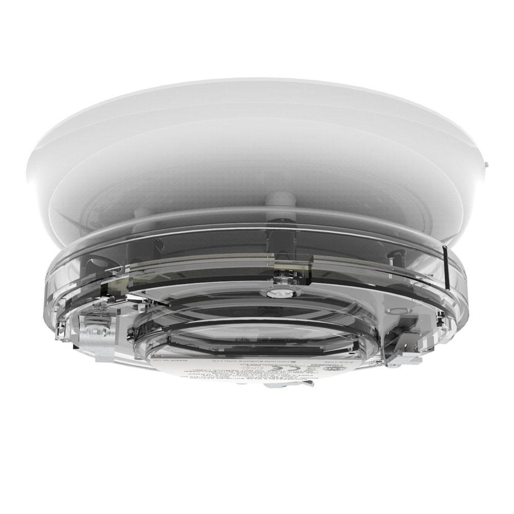 Sirena tip soclu adresabila cu lampa Hochiki YBO-BSB2(WHT)/RL/SIL, SIL2, LED rosu, carcasa alba