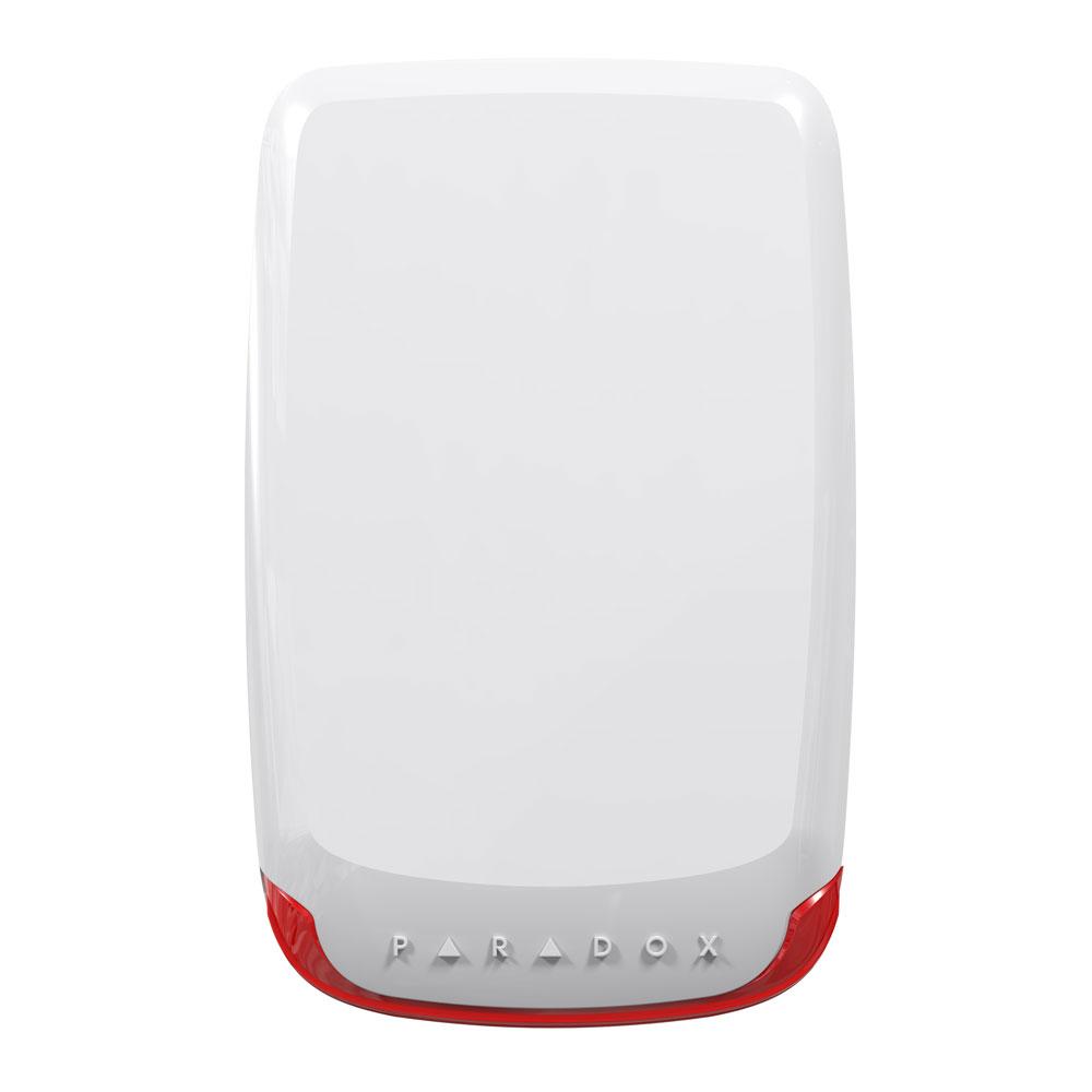 Sirena wireless de exterior piezo stroboscopica Paradox SR130, 100 dB, RF 70 m, tamper imagine spy-shop.ro 2021