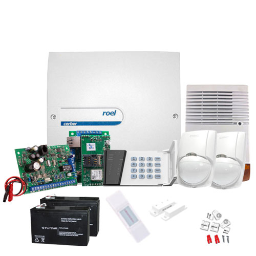 Sistem alarma antiefractie Cerber C52 + comunicator IP/GPRS imagine spy-shop.ro 2021