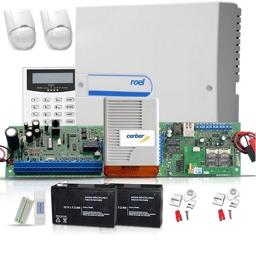 SISTEM ALARMA ANTIEFRACTIE CERBER C816 + COMUNICATOR IP/GPRS