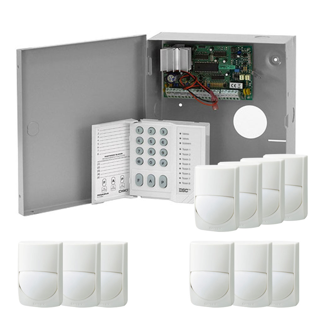 Sistem alarma antiefractie cu tastatura si detectori DSC Power PC585+10XRXC-ST, cutie metalica, 1 partitie, 4-32 zone, 38 utilizatori