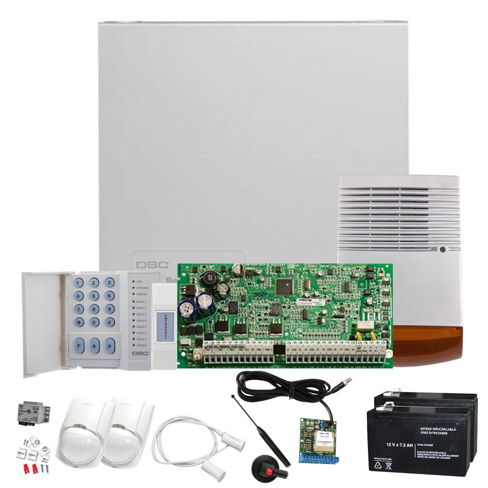 Sistem alarma antiefractie de exterior DSC KIT 1832-EXT+SEKA SMS, 4 partitii, 8-32 zone, 72 utilizatori imagine