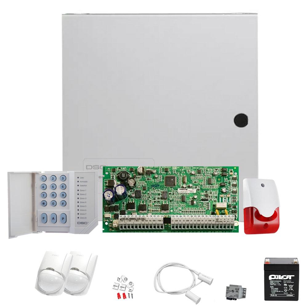 Sistem alarma antiefractie de interior DSC KIT 1832 INT, 4 partitii, 8-32 zone, 72 utilizatori imagine