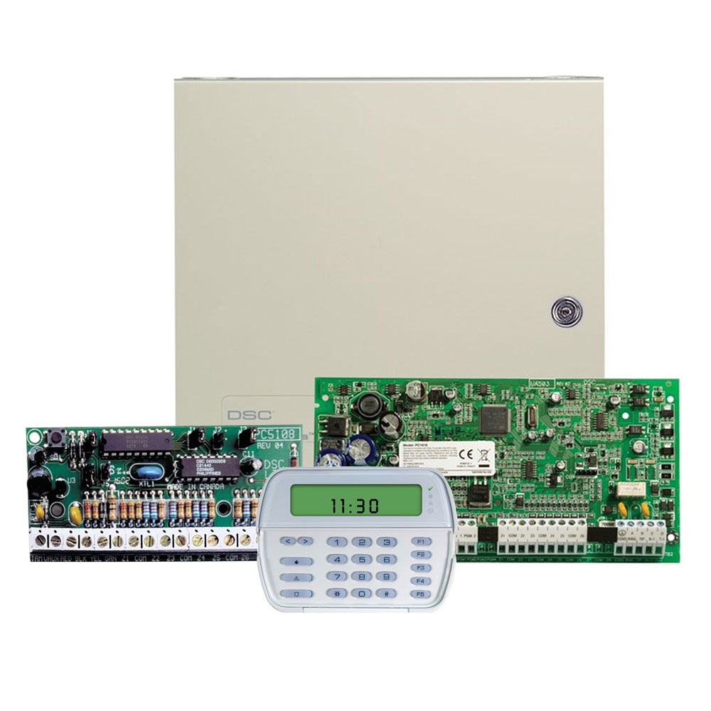 Sistem alarma antiefractie DSC PC 1616-WS ICON, 2 partitii, 16 zone, 48 coduri utilizatori imagine spy-shop.ro 2021