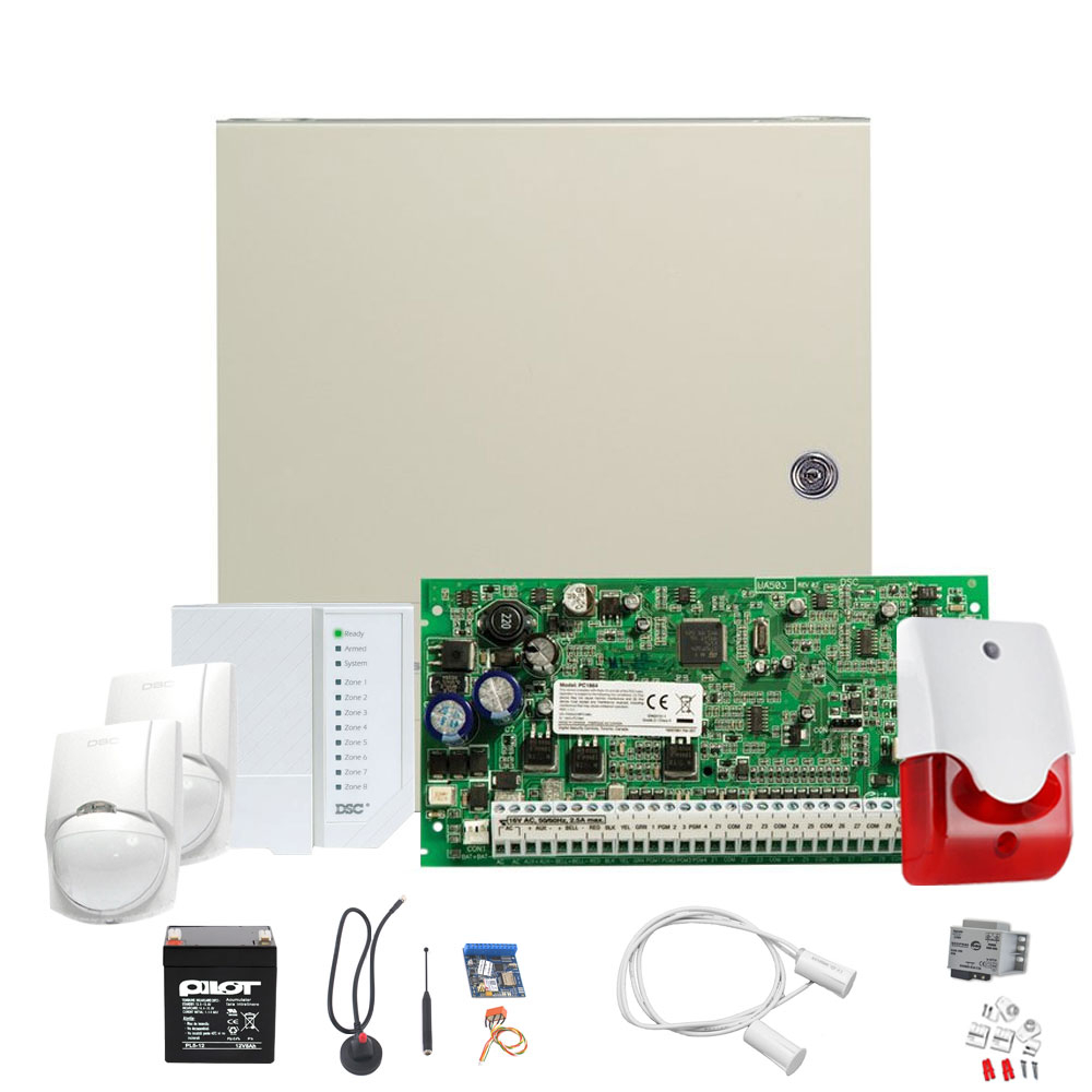 Sistem alarma antiefractie DSC PC1616 INT SEKA SMS GSM imagine