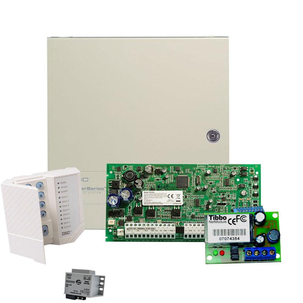 Sistem alarma antiefractie DSC Power PC 1616-COMBO, 2 partitii, 6 zone, 500 evenimente imagine