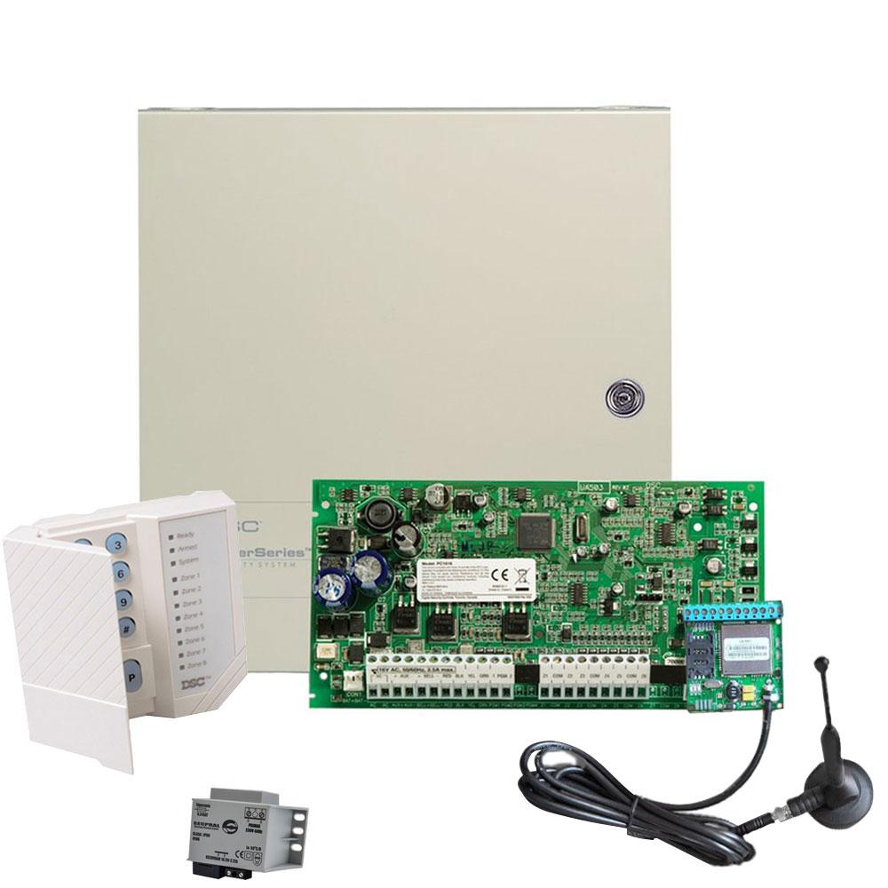 Sistem alarma antiefractie DSC Power PC 1616-GPRS, 2 partitii, 6 zone, 500 evenimente imagine