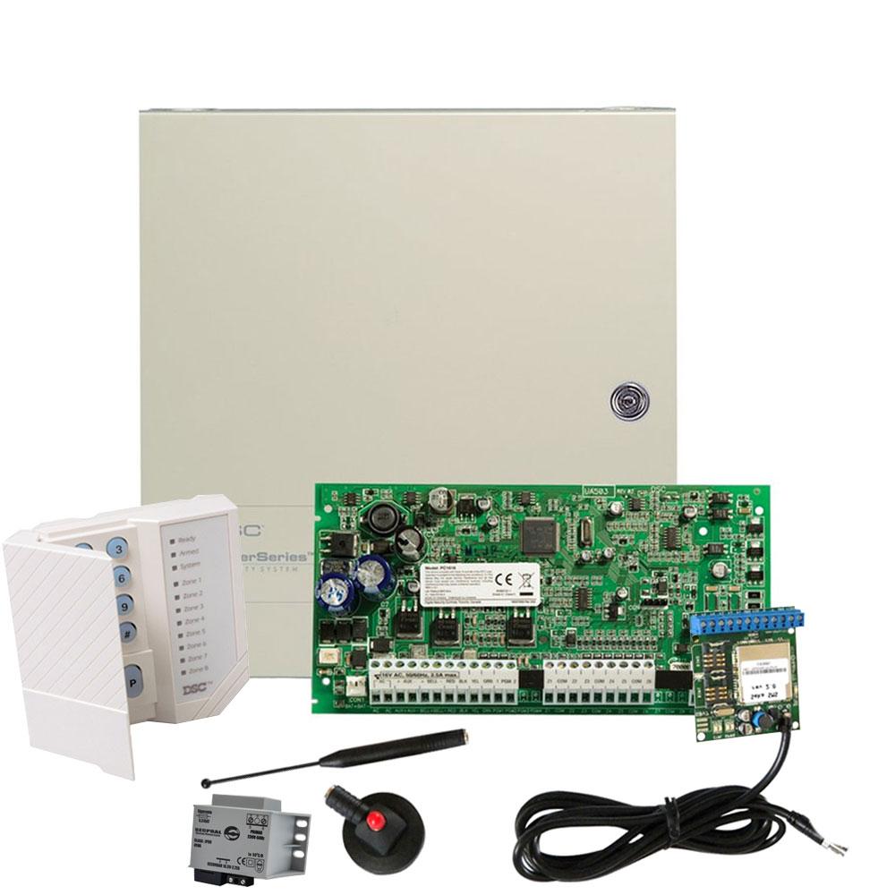 Sistem alarma antiefractie DSC Power PC 1616-SMS, 2 partitii, 6 zone, 500 evenimente imagine