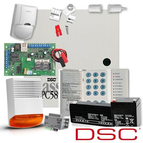 SISTEM ALARMA ANTIEFRACTIE DSC POWER PC 585 + COMUNICATOR MULTICOMM IP/GPRS
