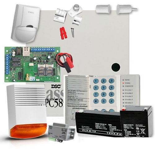 SISTEM ALARMA ANTIEFRACTIE DSC POWER PC 585 + COMUNICATOR MULTICOMM IP/GPRS imagine