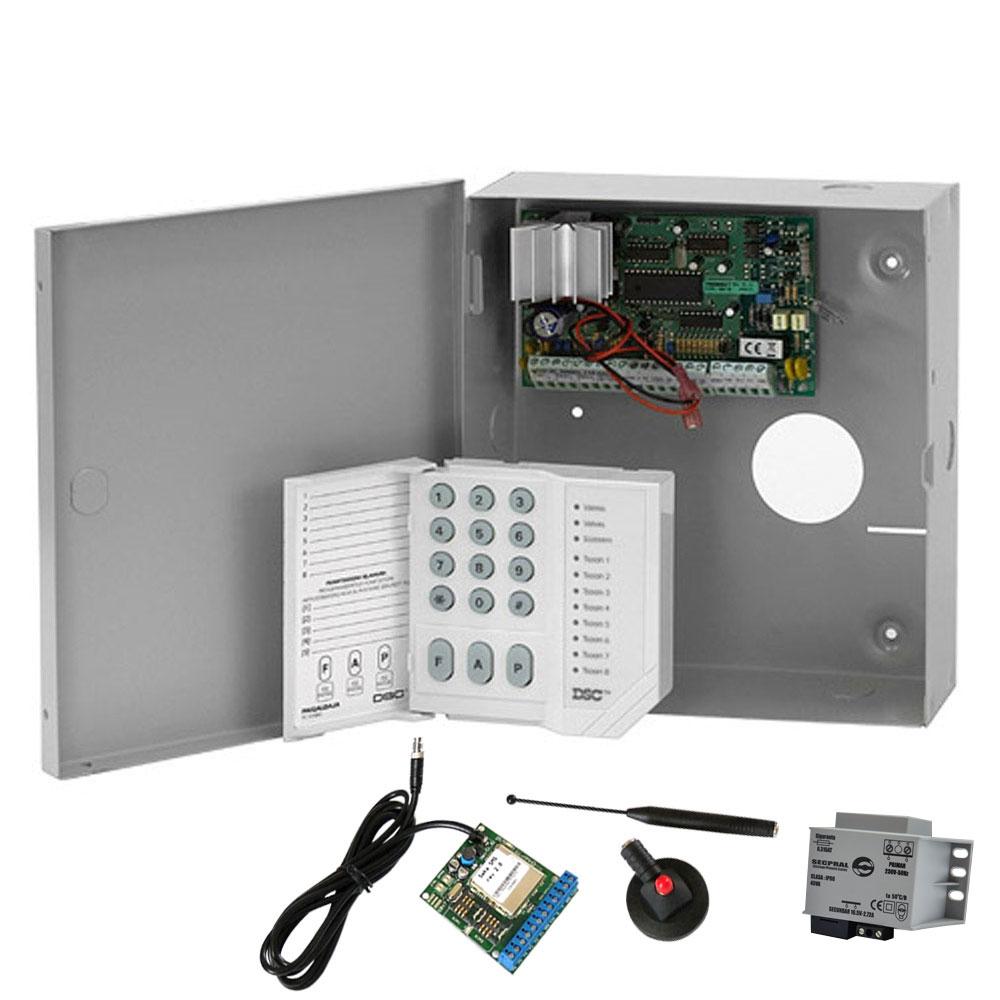 Sistem alarma antiefractie DSC Power PC 585 + SEKA GPRS, 1 partitie, 4 zone, 38 utilizatori imagine spy-shop.ro 2021