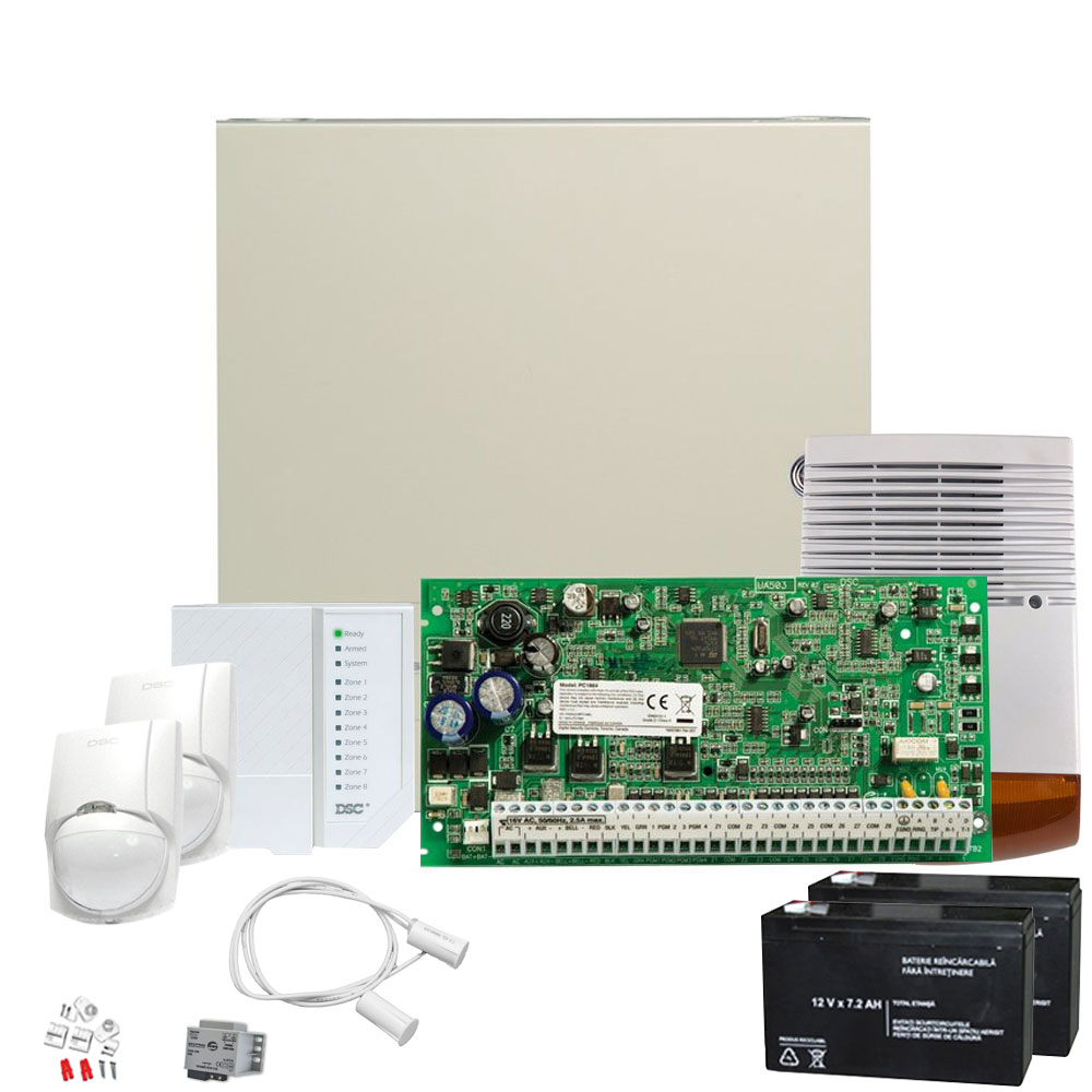 Sistem alarma antiefractie exterior DSC power KIT 1616 EXT imagine