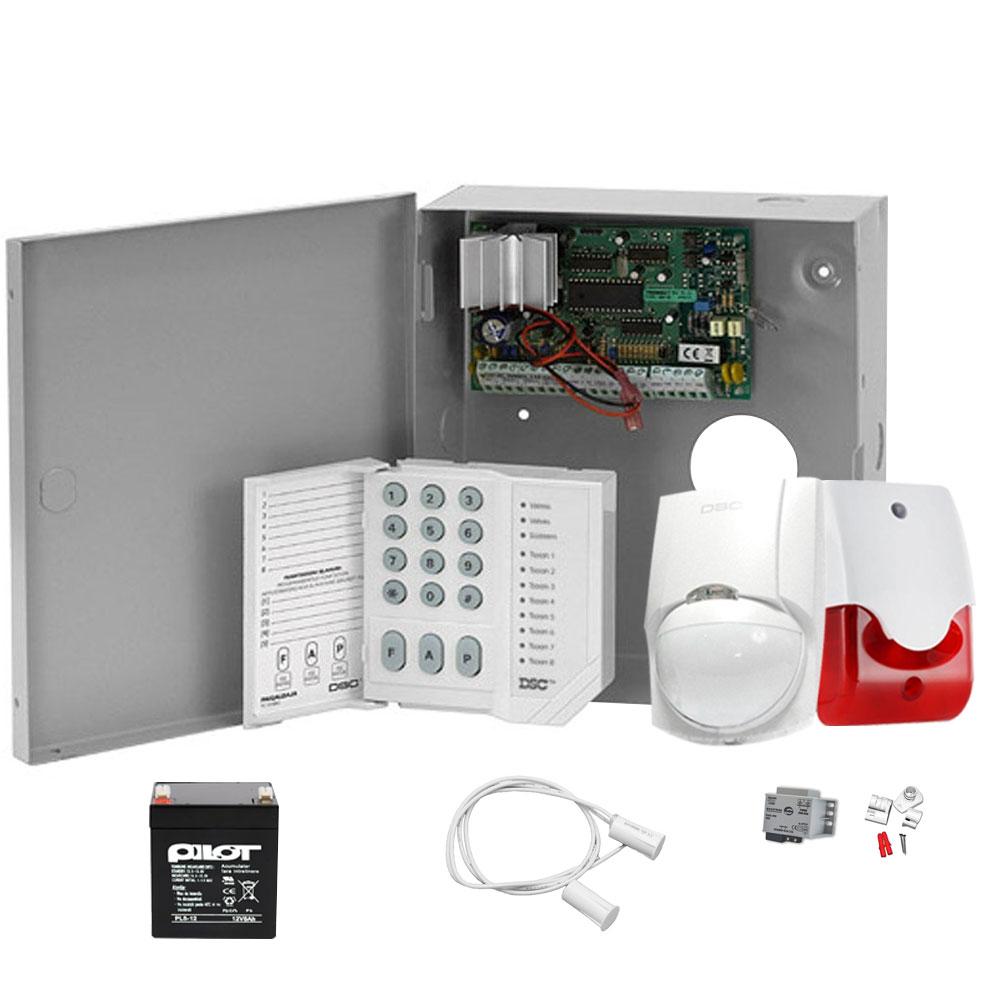 Sistem alarma antiefractie interior DSC Power KIT 585 INT imagine