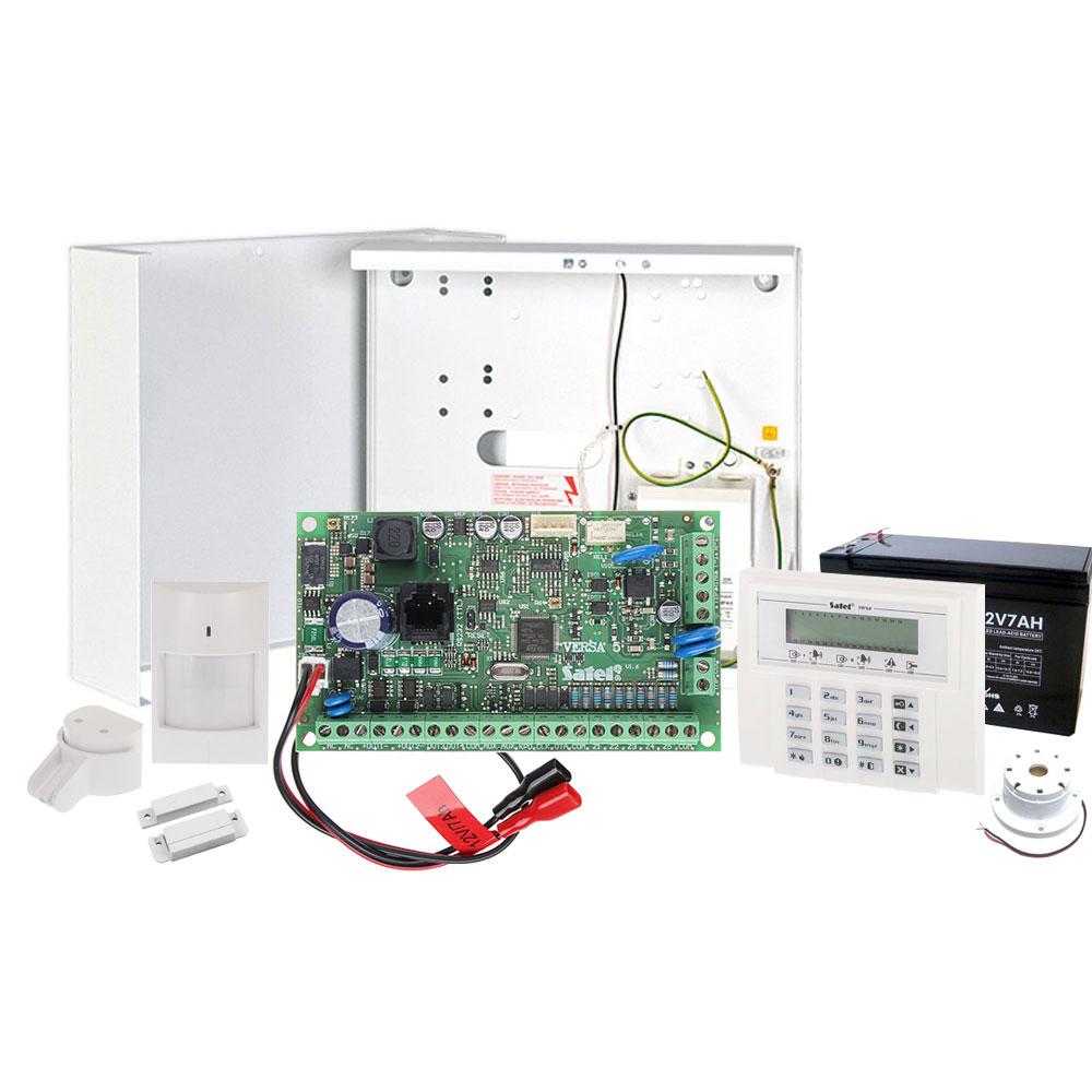 Sistem alarma antiefractie Satel KIT BASIC VERSA 5, 2 partitii, 5-30 zone, 4-12 iesiri PGM, 30 utilizatori